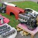 Szilvási Petiék standja a soha be nem épített W108 3.5-ös motorral