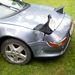 Egy kis baleset hetvenes tempónál. Sok volt a víz az úton...