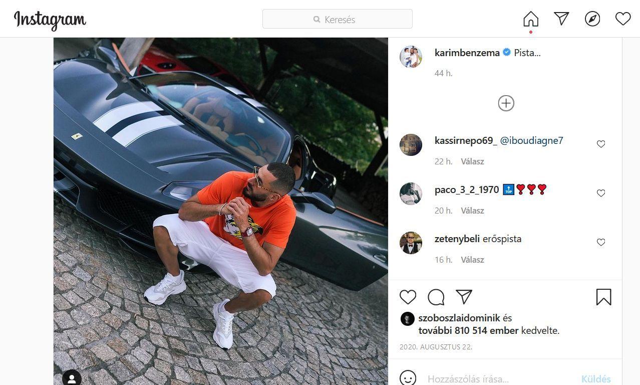 Patrik Schick egy AMG GLE Coupét választott, a SUV-okat szeretik a futballisták (forrás: Instagram)