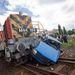 A mozdony is leselejtezés előtt állt, bár ez az apró ütközés maximum pár helyről leverte a rozsdát