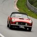 Nürburgring, Nordschleife. Ferrari 250 SWB California Spider. Nem olcsó, de nem kímélték. Milyen hangja volt...