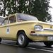 Nusi, alis NSU 1000 C. Motorja 1200 ccm, ca. 65 LE. 6 nap alatt 3400 km-t nyomtunk le vele. Extrák: nincs fűtés, egyfokozatú ablaktörlő.