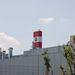 Ha már a reptér kérte a magas kéményre a piros-fehér festést, egy Kecskemét-címer is került rá