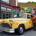 Checker taxi, mint dekoráció a Universal Studios élményparkjában