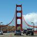A Golden Gate hídon. A túloldalon levő dombokról fantasztikus a kilátás