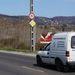 Az Egér út, Kőérberki úti csomópontjának összes felhajtójánál ott a hetven kilométeres sebességkorlátozás táblája
