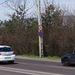 Jól látható hetvenes tábla az Egér úton, a Balatoni úti felüljáró irányában