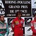1990, Francia GP, Magny-Cours: 1. Prost, 2. Capelli, 3. Senna