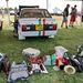 Szűk kelléktár az egyik hengerét vesztett Fiat 131 Abarth meggyógyításához