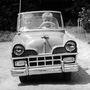 Az 1958-as év stílusának megfelelő hűtőrács a kisautón