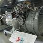 A Harrier Rolls-Royce Pegasus sugárhajtóműve. Jól látszik, hol ágazik el a kiáramló gáz útja