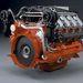 16 literes V8-as ipari célú motor.