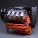 16 literes V8-as hajómotor.