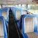 Korabeli kárpit, a busz saját ülései