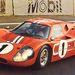 Ez egy 1967-es GT 40-változat. Ott a Gurney-púp is