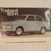 Ilyen is volt - Trabant 601 Hycomat, automatikus tengelykapcsolóval, egy reklám-prospektuson