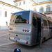 Életem legrosszabb járműve volt ez a busz. Futóműnek, lengéscsillapítónak abszolút semmi nyoma, tényleg egy ekhós szekér. és végig macskakövön jöttünk