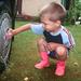 Bálint négyévesen mosogatja. Most tízéves és már negyedikes