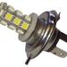 Az elrettentő példa: a H4 helyére passzoló, nulla fényt adó LED-es lámpa, Kínából. Úgy árulják, hogy csak H4-es ködlámpába való. De oda sem