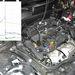 1: gyújtótrafó (gyújtásmodul); 2: beiktatott mérőkábel; 3: szekunderfeszültség-mérő csipesz; 4: árammérő lakatfogó; 5: primerfeszültség-csatlakoztatás.
