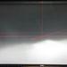 Ugyanabban a Focus fényszóróban az utólagos Xenon-izzó már egyáltalán nem képes a szép, szabványos vetített képet produkálni. Erősen világít, de össze-vissza szórja a fényt, ezzel vakítva a szembejövőket