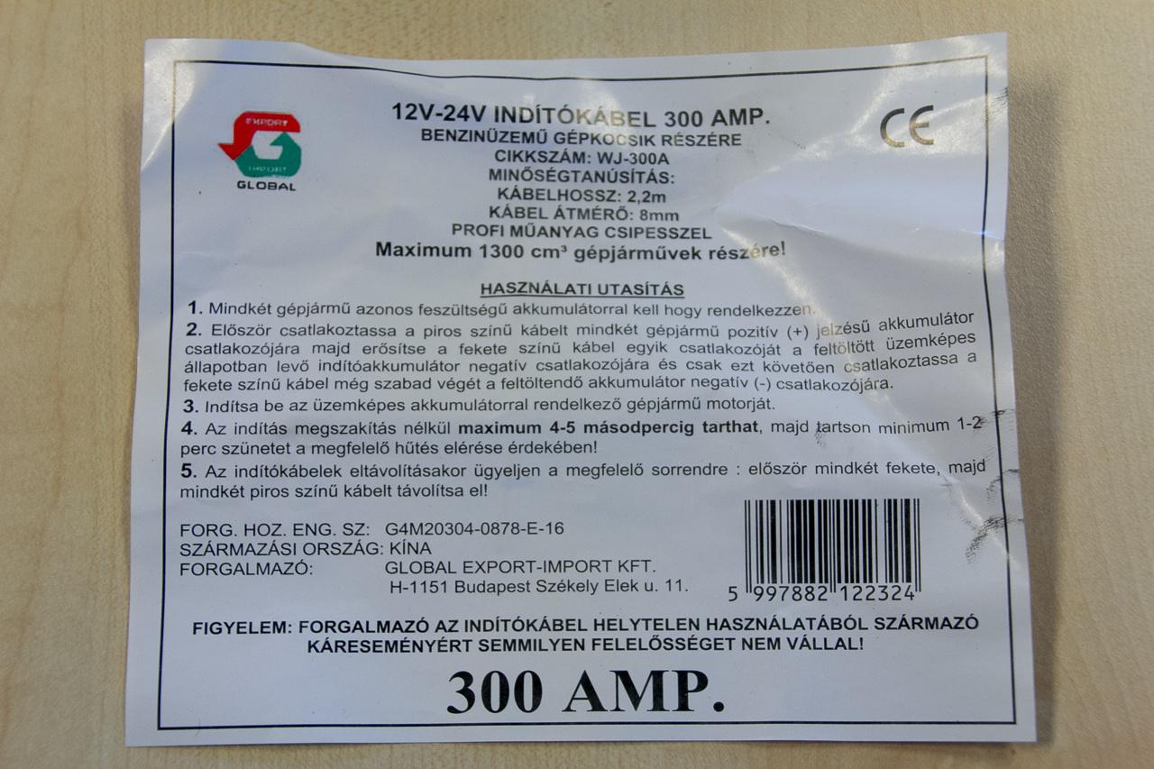 A 900 amper kicsit túlzás - ugyanakkora a keresztmetszete, mint a 300 amperes franciának