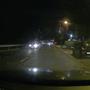 Éjjel már kell egy kis szerencse, de dashcam szinten ez elég jónak minősíthető kép, a fényárral nem vádolható Határ úton