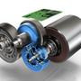A német ZF már évekkel ezelőtt készített elektromotorhoz társított kétfokozatú váltó tanulmányt. Kékkel a kuplung és a második fokozat