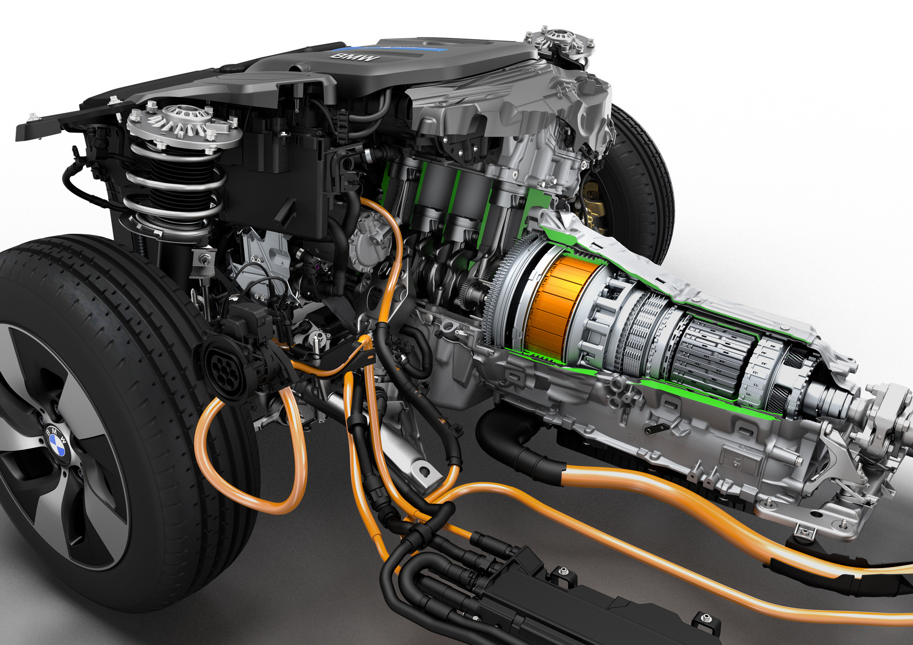 Így néz ki a Kia EV6 hátsó hajtása az elektromotorral és az erőátvitellel. A GT kivitelében valószínűleg van váltó