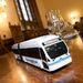 A különös, burkolt kerekű NABI busz tulajdonképpen vonat helyett üzemel