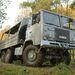 A Scania tesztpálya állandó kelléke ez a 6x6-os teherautó, amelyet a terepjáró-képesség bemutatására használnak