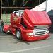 Svempa-Scania: a kabrióvá és csőrőssé alakított hagyományos fülke orr-része a ma futó dizájn követi…