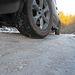 Rutinpálya téli vezetéshez: többcentis jégpáncél az úton