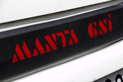 A gyári matricák mindig jól mutatnak egy gyárias motortérben
