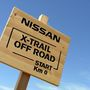 A hét kilométeres útvonal nem igazán tette próbára az X-Trail terepes képességeit