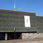 A rigai Megszállás múzeuma, ukrán szolidaritás-zászlóval