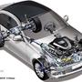 A Mercedes alatt is állandó összkerékhajtás dolgozik, részlegesen önzáró középső differenciálművel, ami 50 newtonméterig működik. A kerekek közti nyomatékelosztást az elektronika segíti, vagyis az elpörgő kereket megfékezi, így a nyomaték átkerül a még tapadó oldalra. Bár ezt is 4Maticnak hívják, ez nem összekeverendő a G osztály három, mechanikusan zárható diffin alapuló rendszerével, ami az igazán kemény terepezéshez való.