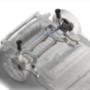 Az elektromos az első Mégane nevet viselő típus, ami hátul független, több lengőkaros felfüggesztésű. Ok: a jobb vezethetőség és a négykerékhajtás lehetősége